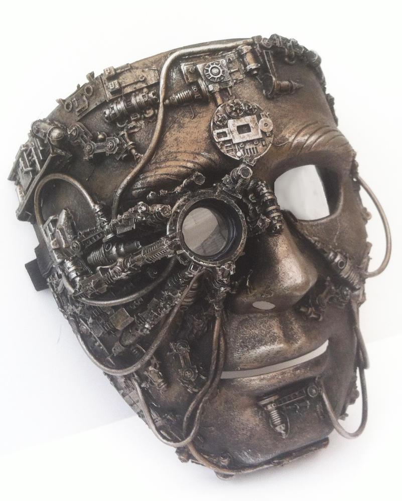 Steampunk mask with bionic eye by richardsymonsart
