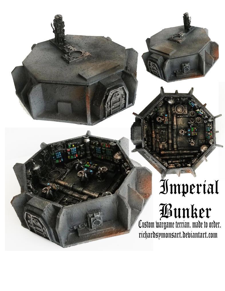 40k imperial bunker by richardsymonsart