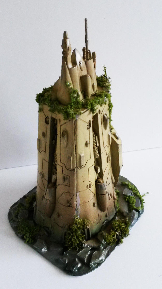 warhammer 40k Eldar tower by richardsymonsart