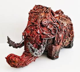 robot Mammoth piggy bank