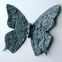 Cyber butterfly sculpture