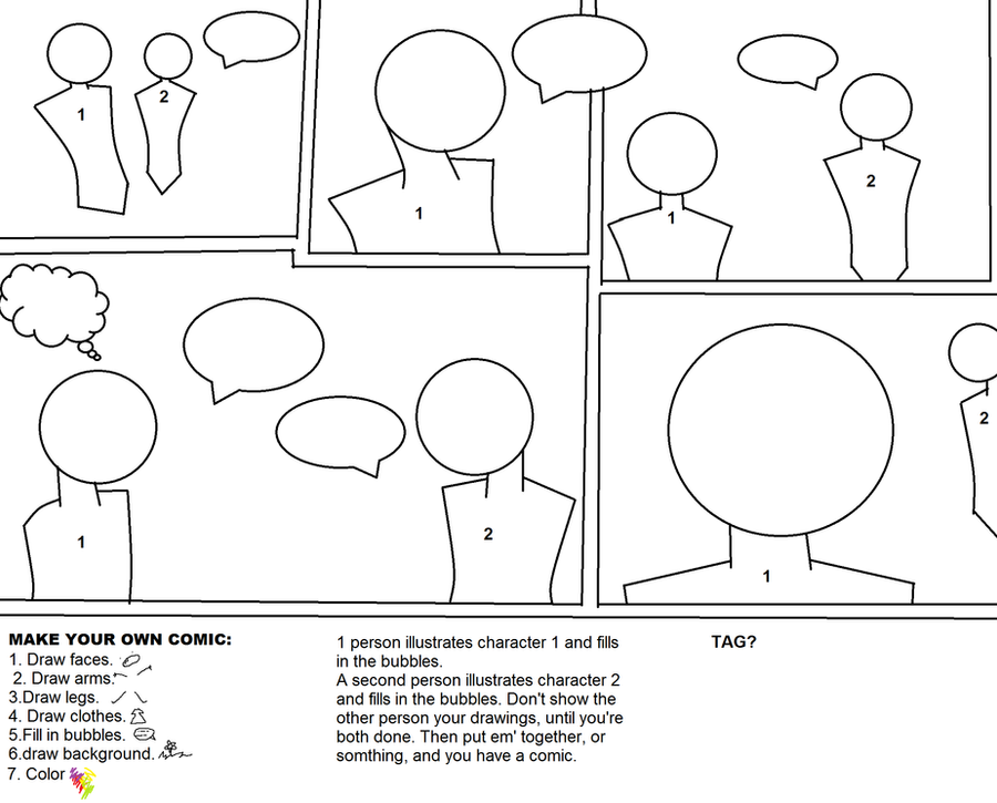 Make your own comic meme by laurel the hedgehog on deviantart for Make your own comic strip template