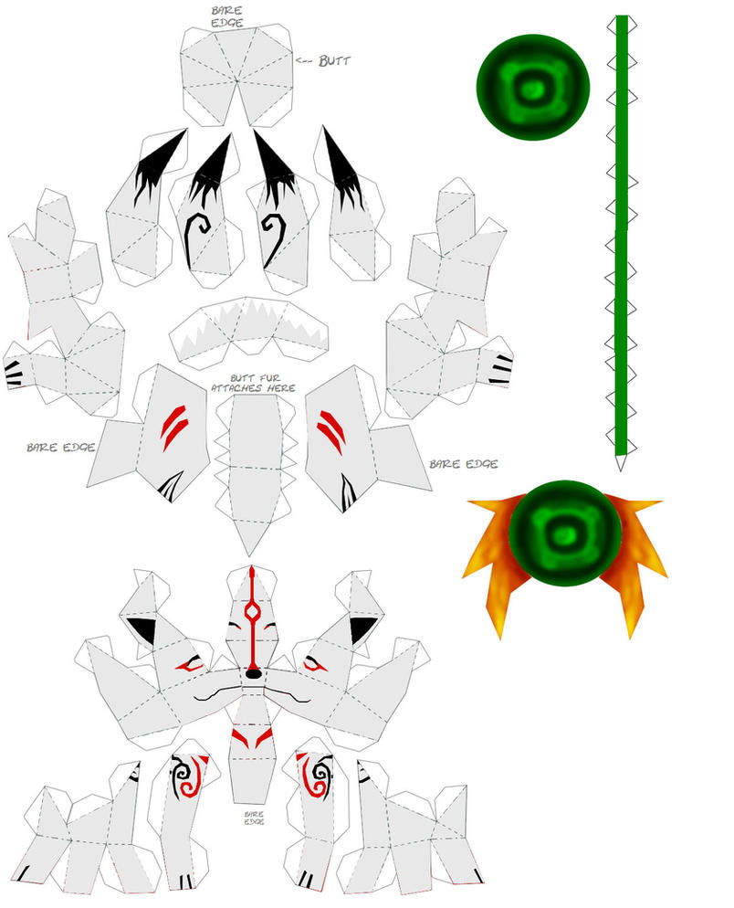 Okami Papercraft Instructions By Draco3013