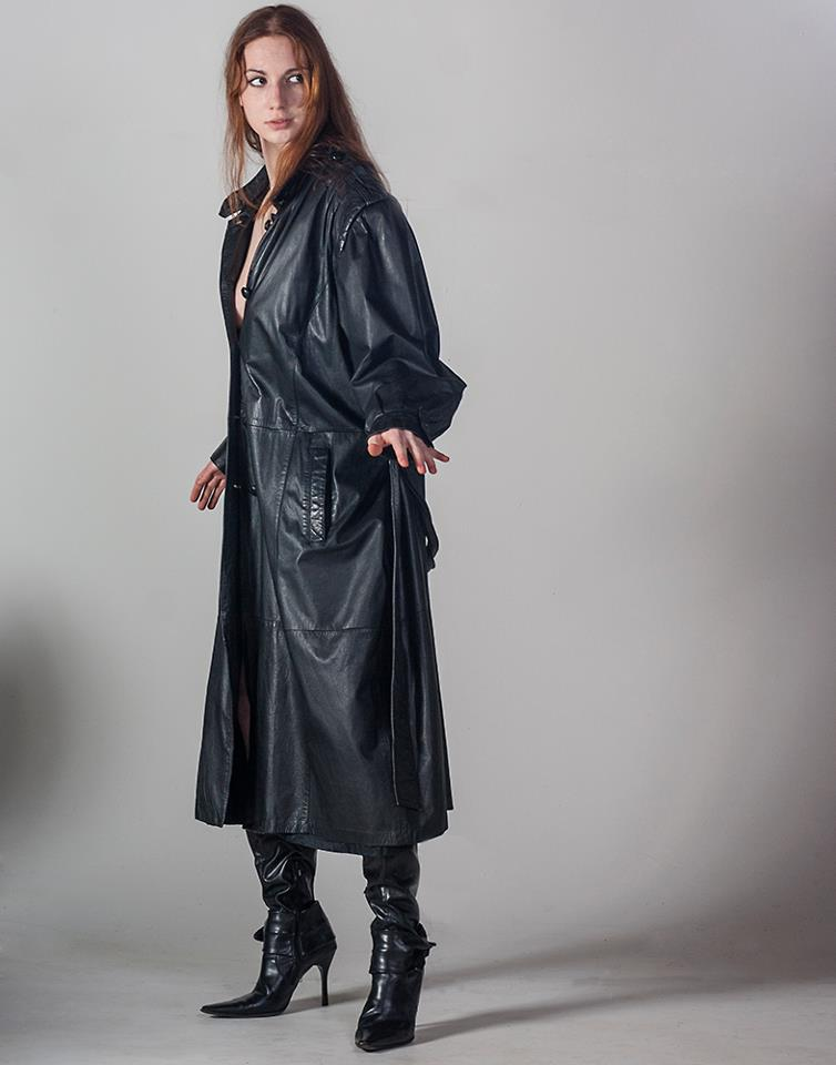 Long Leather Jacket and Black Boots by Nyxiin-the-Vyxiin on DeviantArt