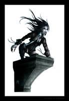female vampire assassin by KARGAIN