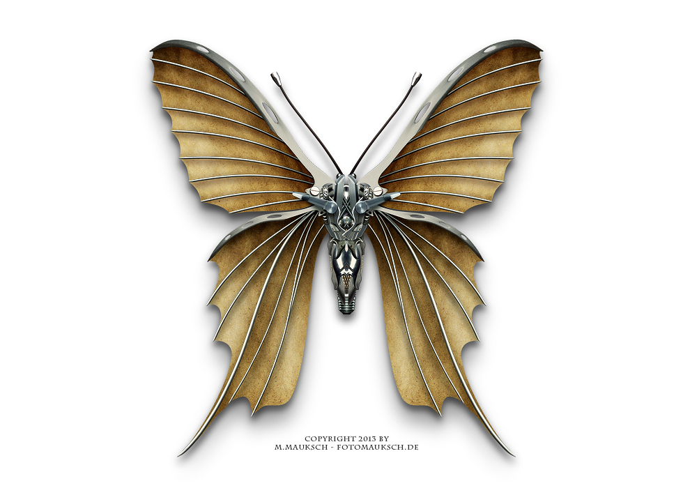 Steampunk butterfly by KARGAIN on DeviantArt