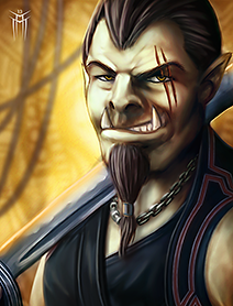 Shadowrun Returns - PC/NPC Character Portrait 02 by KARGAIN