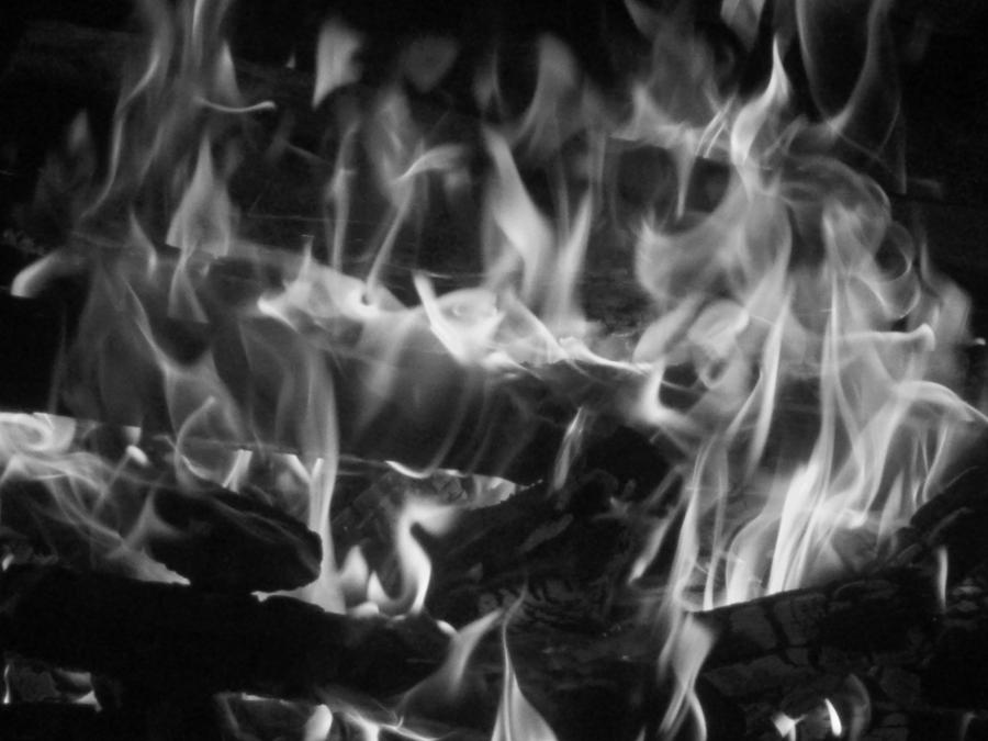 Black and white fire by bluedemonchick on deviantart - Black and white fireplace ...