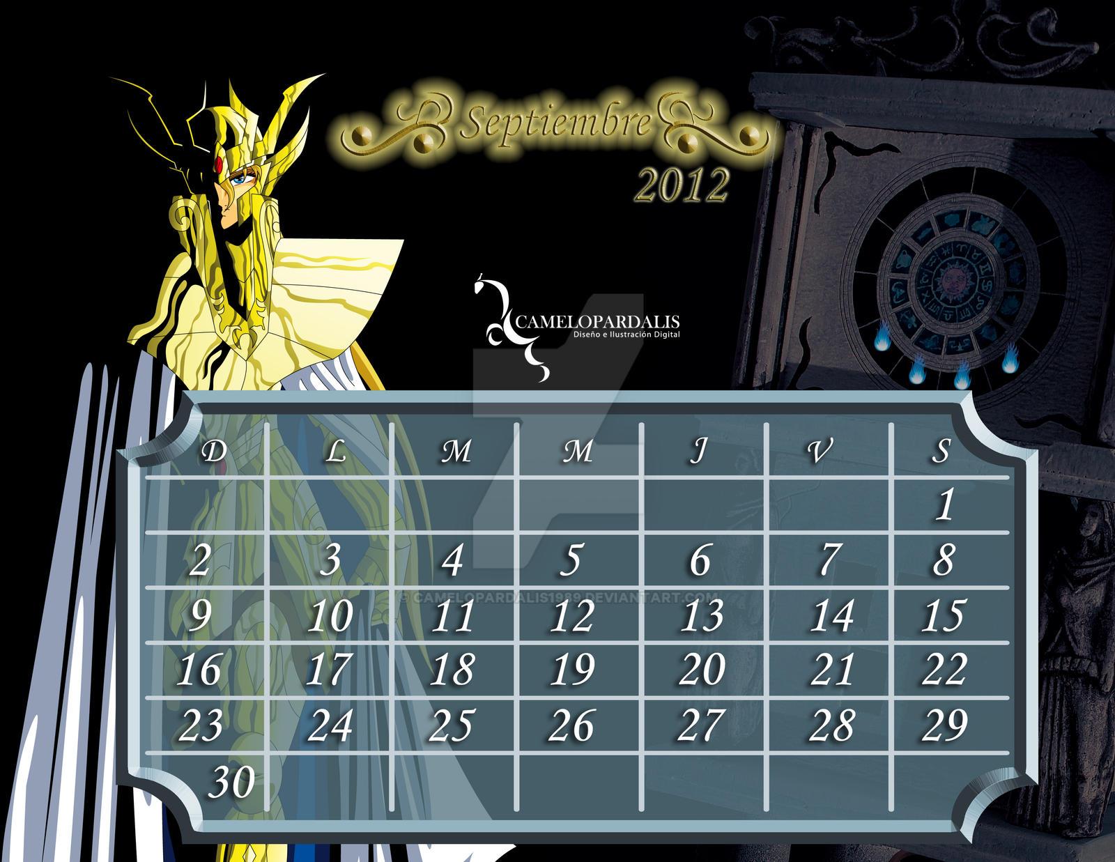 Calendario 18 19 Sep.Saint Seiya Calendario Sep By Camelopardalis1989 On Deviantart