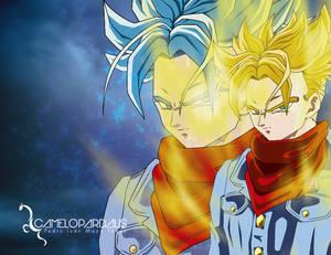 Trunks Super Saiyajin - Super Saiyajin God Blue