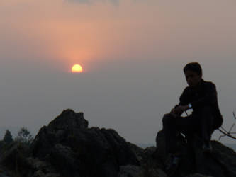 Nepali Sunset by silent-screamer