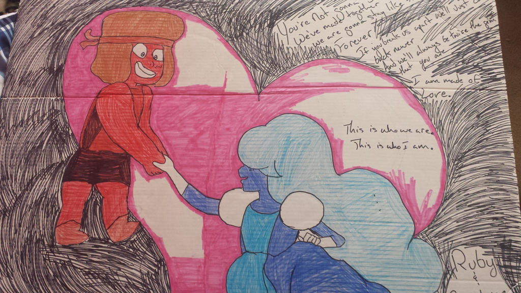 ruby and sapphire by toxxicfoxes