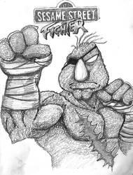 Sesame Street Fighter Telly by iambatgirl13