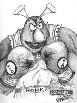 Sesame Street Fighter Honker