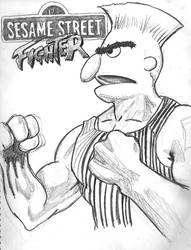 Sesame Street Fighter Bert by iambatgirl13