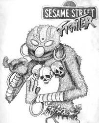 Sesame Street, Street Fighter, by iambatgirl13