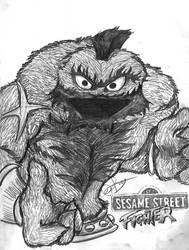 Sesame Street Fighter Grouch by iambatgirl13
