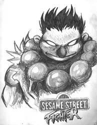 Sesame Street Fighter by iambatgirl13