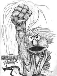 Sesame Street Fighter Elmo by iambatgirl13
