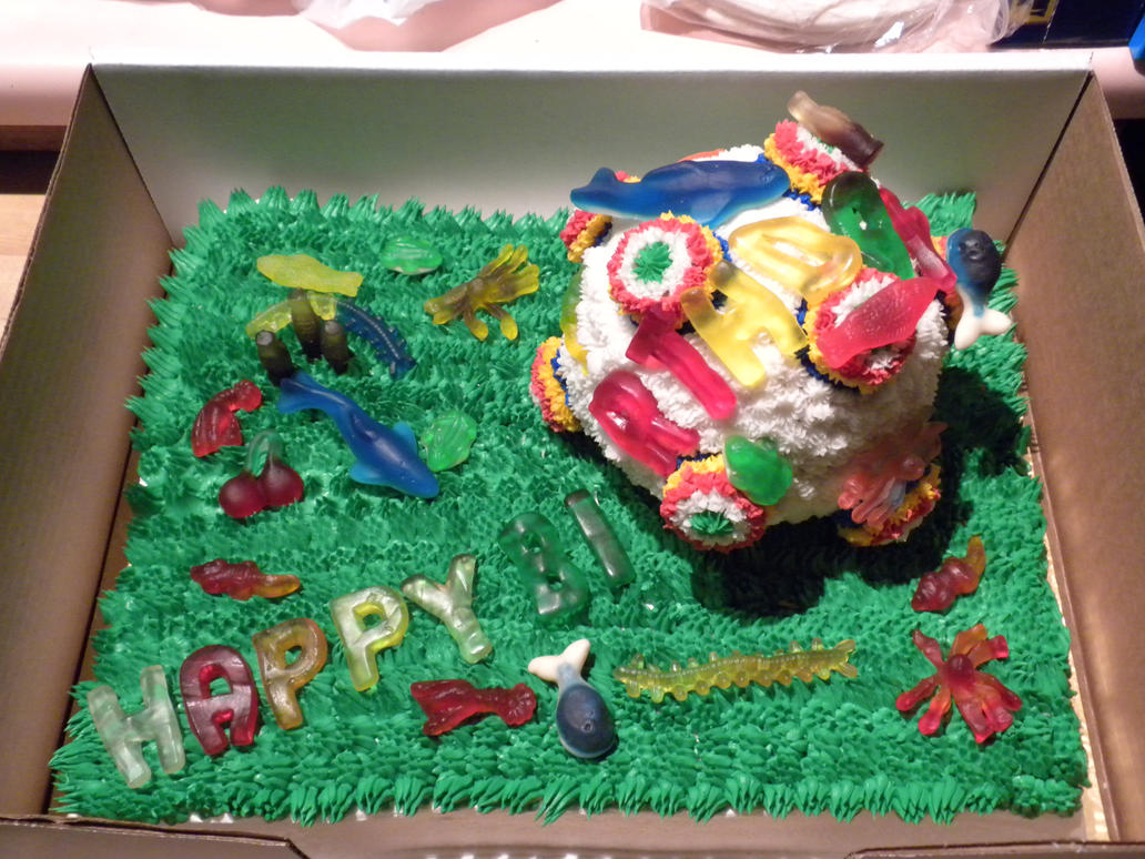 Katamari Damacy Cake by nanjari