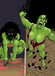 Jennifer becomes She-Hulk Art I TF 1e