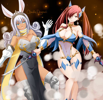 Swan-and-erza by claudiadragneel