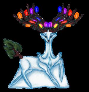 A Xerneas Snowmon for X-Mas