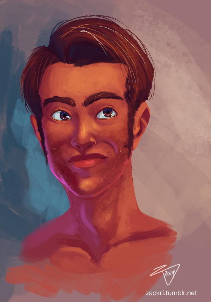 Portraiture Sketch sept62014 by ZackRI