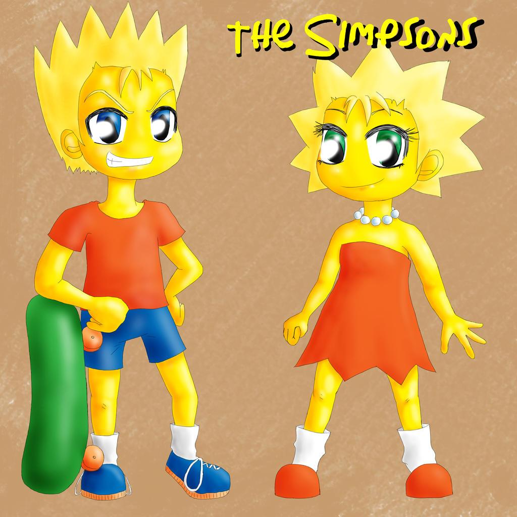 Bart and Lisa by Popcorni