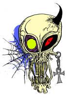 Alien Devil Skull by RatSamsa
