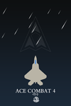 Ace Combat 4 minimalist poster