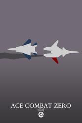 Ace Combat Zero minimalist poster