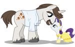 Filly Rarity and her Dad
