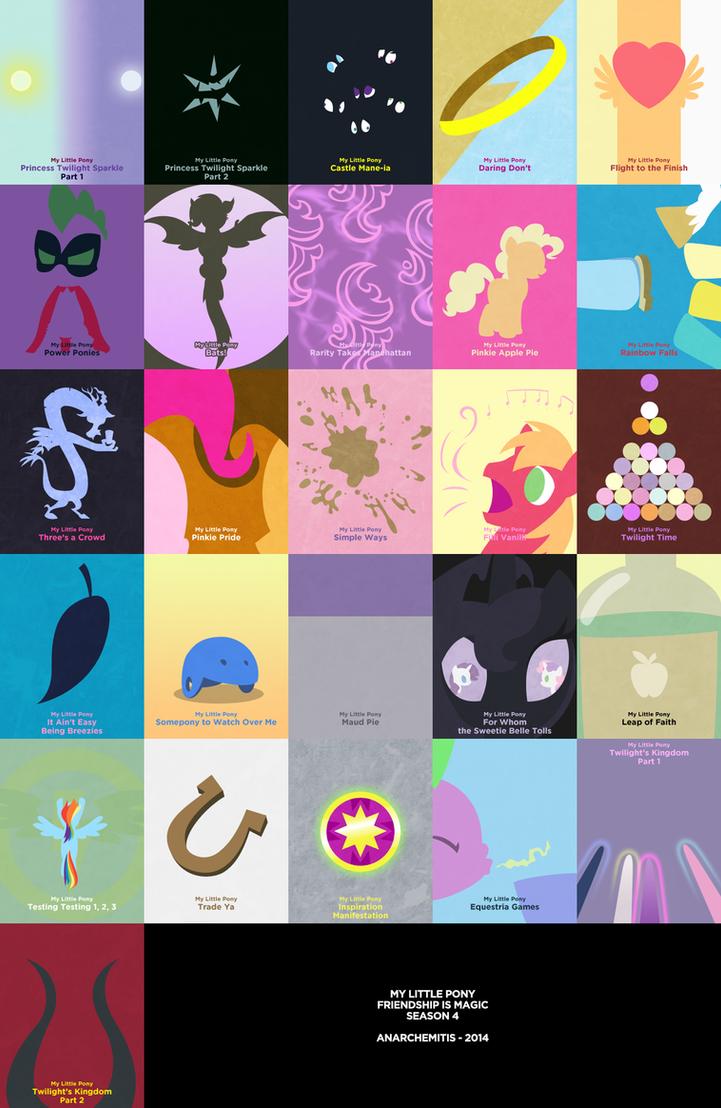 My Little Pony - Season 4 by anarchemitis