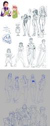 AA Sketchdump by datPiranha