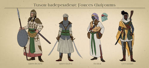 AA: Tusar Independent Forces Uniforms by datPiranha