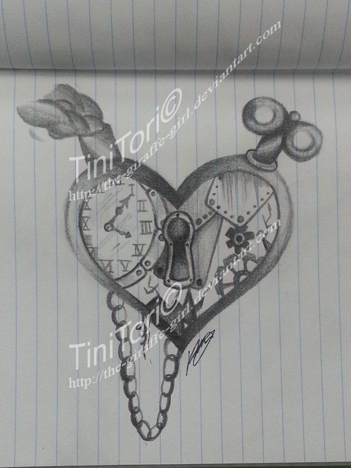 Steampunk Heart Drawings Steampunk Heart by