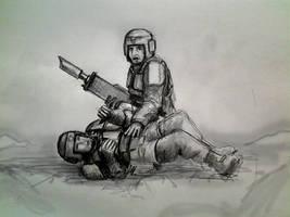Imperial guard: Man down! by HrvojeSilic