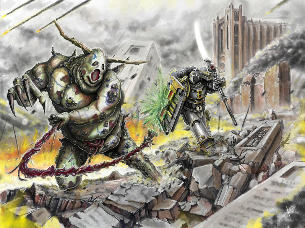 Grey knight: Melee by HrvojeSilic