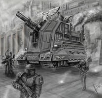 Imperial guard heavy artillery by HrvojeSilic