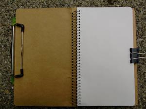 02 Midori Notebook Polar Bear - Front Inside Paper