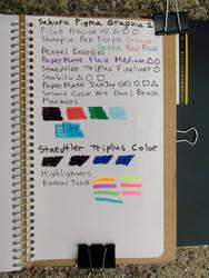 03 Midori Notebook Polar Bear - Last Sheet Tests