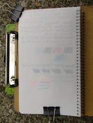 04 Midori Notebook Polar Bear - Last Sheet Tests