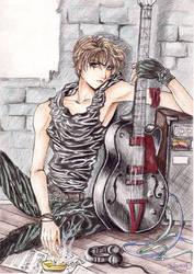 Guy with a guitar by dlazaru
