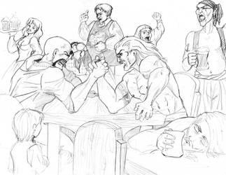 Armwrestling by dlazaru