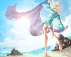 sunny beach by dlazaru