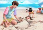 BTS summer V by dlazaru