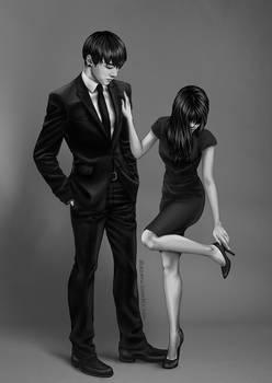 BTS Jungkook b-w