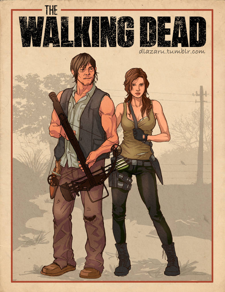 The Walking Dead Daryl and OC by dlazaru