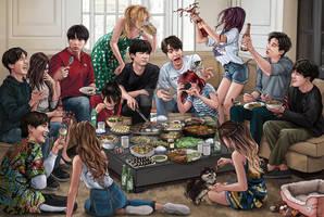 BTS eating